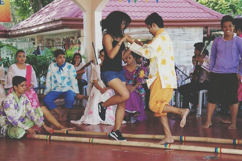 Step into our culture. Tinikling Dance