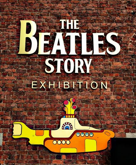 Brick Wall Building Exterior Day No People Outdoors Text The Beatles The Beatles Museum Yellow Submarine EyeEmNewHere