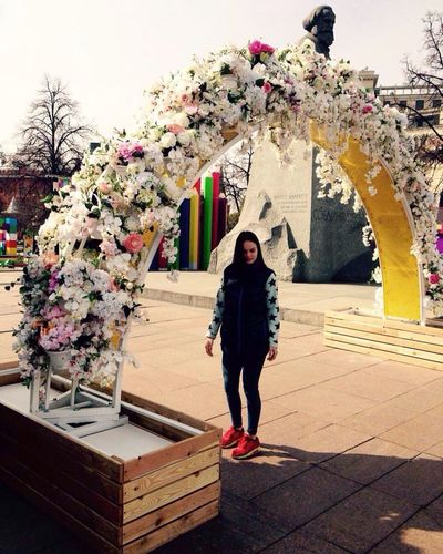 Full Length Flower One Person One Woman Only Tree People Day Outdoors
