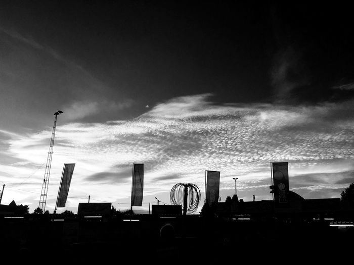 Architecture Built Structure Sky Cloud - Sky Low Angle View Building Exterior No People Outdoors Silhouette Day Blackandwhite Black And White IPhoneography Sky And Clouds