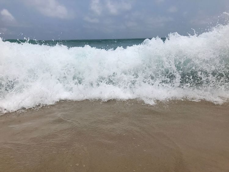 Sea Water Beauty In Nature Wave Nature No People Motion Power In Nature Horizon Over Water Beach Day