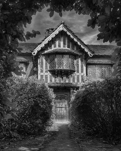 Yesterday. Architecture Outdoors No People Black And White Tree Sky Day Eye4photography  Bnwphotography Black And White Collection  Check This Out Old Buildings Old Architecture Tudor Tudor House Eye4photography  Blackandwhite