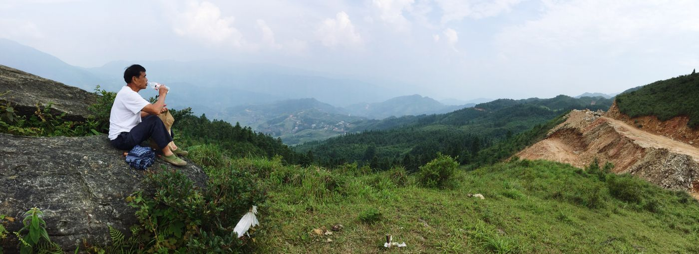 Hiking up from dazhai village to mountain top. Relaxing Hiking China Resting Enjoying The View Absolute Silence
