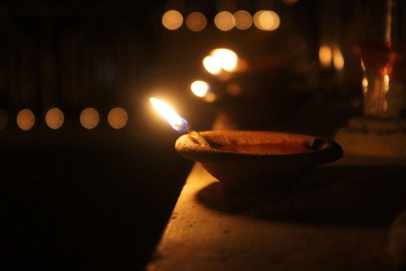 Oil Lamp.. Burning Canon 70d Myanmar Oil Lamp Traditional Festival Yangon