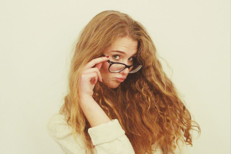 ?. New Glasses Pretty Girl People Photography Happy People