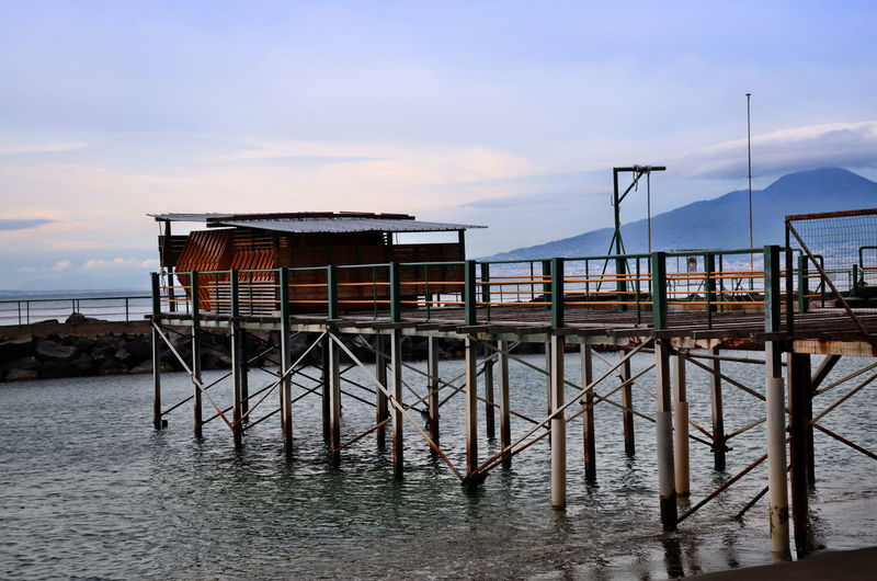 Hut on stilts. Capanna su palafitte. Italy Architecture Architecture Beach Beautiful Nature Bridge - Man Made Structure Built Structure Eye4photography  EyeEm Best Shots EyeEm Gallery EyeEm Nature Lover Nature Nature_collection Nautical Vessel Outdoors Pier Railing Reflection River Sea Sea And Sky Seascape Taking Photos Water Waterfront