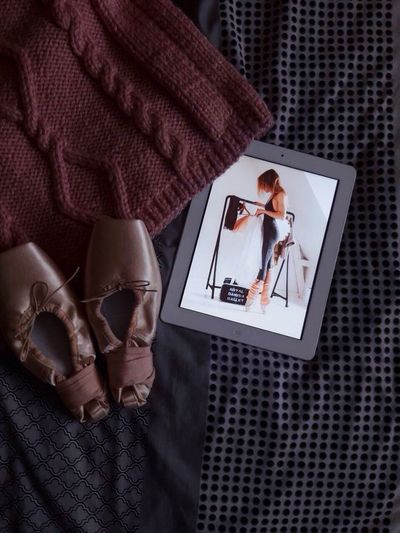 Ballet is my life. Ballet Shoes Ballet Dancer Love Yourself Digital Tablet Wireless Technology Computer Adult Technology Indoors  Human Body Part