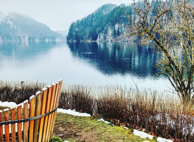 Showcase March Lake Lake View Germany Deutschland Hohenschwangau Village Landscapes With WhiteWall Feel The Journey Breathing Space Your Ticket To Europe Shades Of Winter