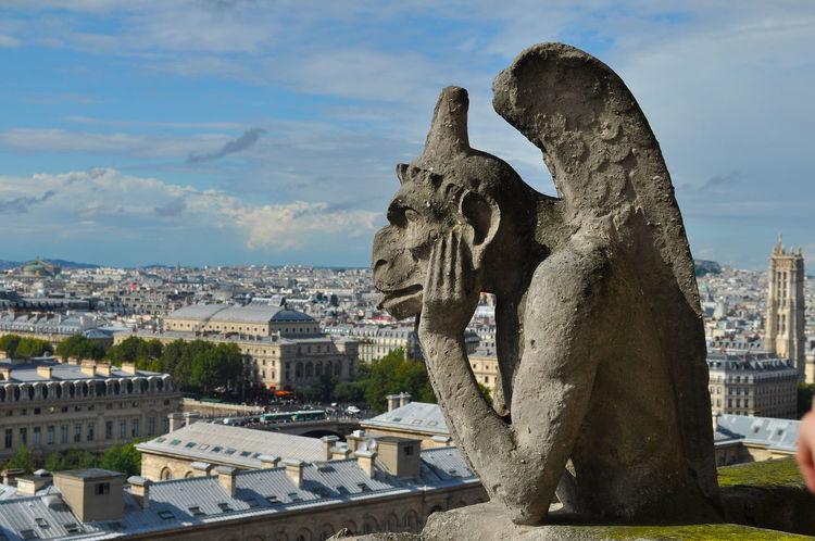 Architecture Architecture Architettura Architettura Gotica Culture Famous Place France Francia Gargouille Gotic Architecture Gotico Parigi Paris Sculpture Statua Statue Statue