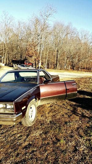 Elcamino Chevy Chevrolet Muscle Car Muscle Car Truck Farm 1986 1980s 1980's  Leather Chrome Mud Hybrid Brown Work First Eyeem Photo