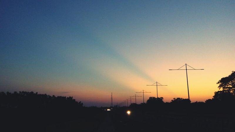 Blue Wave Sillouette Sky Evening Evening Sky Blue Sunset Kwasu Kwara Nigeria Darkness And Light Road