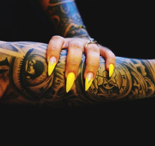 Ways Of Seeing Human Hand Human Body Part Yellow Paint The Town Yellow Tattoo Nail Art Design Rethink Things Be. Ready. Lifestyle Lifestyles See The Light Perspectives On People EyeEm Ready   Love Yourself Visual Creativity This Is My Skin The Creative - 2018 EyeEm Awards