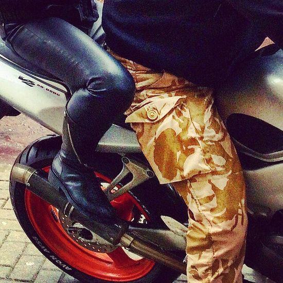 Messedupjournal Bikelife Bikers Love Camouflage Leather Boots Bike