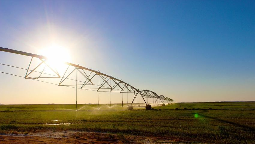 Sunlight Nature Sunset No People Outdoors Field Scenics Beauty In Nature Built Structure Clear Sky Sky Landscape Day Irrigation Irrigation System Sudan