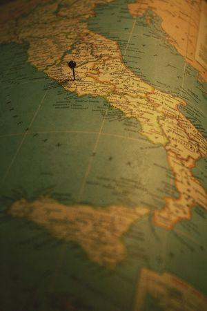 Map Italy Pin Rome
