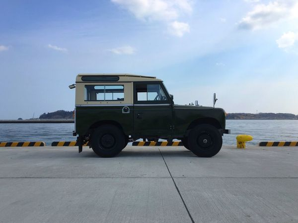 塩竈の岸壁。 Sky Day Fishing Port Cloud - Sky Nature No People Spring March Outdoors Mode Of Transport Tadaa Community Hello World Tire Landscape My Point Of View Land Rover Land Rover Series LAND ROVER SERIES 2 Landrover  Classic Car British Car Vintage Cars Quay Sea And Sky Historic Car