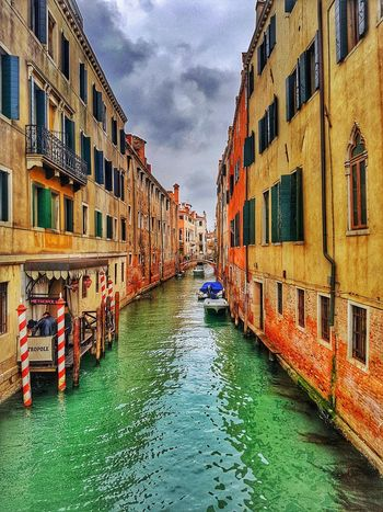 Venice Venice, Italy Venizia Highsaturation Colorful Water Gondola - Traditional Boat Colorfulbuildings Italy Water Greenwater EyeEmNewHere