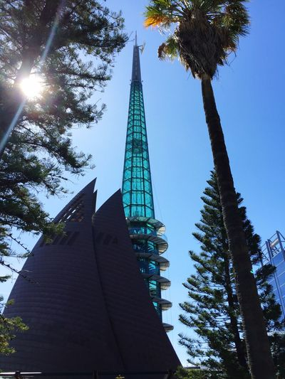 Perth Swan Bell Tower Bell Tower Perthlife City Perthcity Perth Australia Perthcityau Australia Down Under The KIOMI Collection Australia & Travel Tower Blue Sky Architecture Architecture_collection City View  Australien Amazing Blue Glass Bell Towers