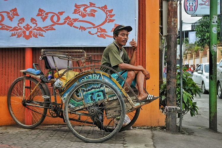 pedicab #humaninterest #pedicabs Bicycle One Man Only Only Men One Person Transportation Adults Only Full Length People Outdoors Real People City