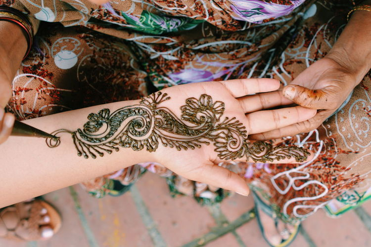 Close-up Culture Design One Woman Only Outdoors Part Of Person Variation Mendhi Art Hand Art Is Everywhere