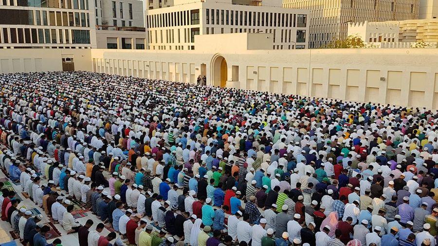 Prayer Large Group Of People Religion Spirituality Place Of Worship People Community Eid Mubarak Eid Prayer Timr Indoors