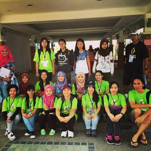 With other volunteers WalkForAutism