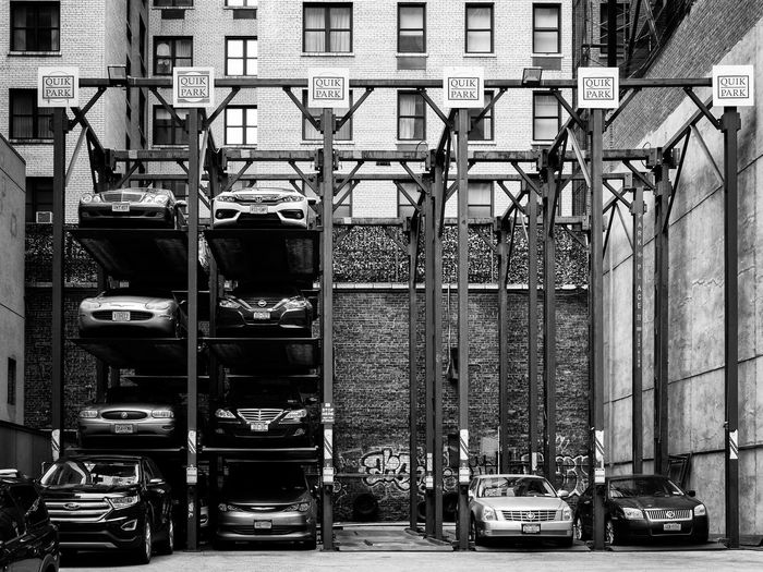 Cars City New York City Parking Lot Architecture Building Exterior Car City Compact Concentrated Effective Effective Use Of Space Land Vehicle No People Park Parking Parking Is Expensive Quick Quik Space Is Expensive Stapled Stationary Vertical Parking