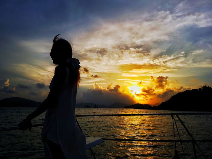 Panwa Cape.. Phuket One Woman Only Sunset Thailand