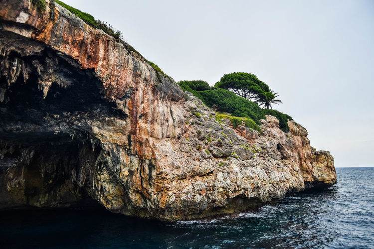 Beauty In Nature Cliff Day Eroded Land Nature No People Outdoors Rock Rock - Object Rock Formation Rocky Coastline Scenics - Nature Sea Sky Solid Tranquil Scene Tranquility Water Waterfront