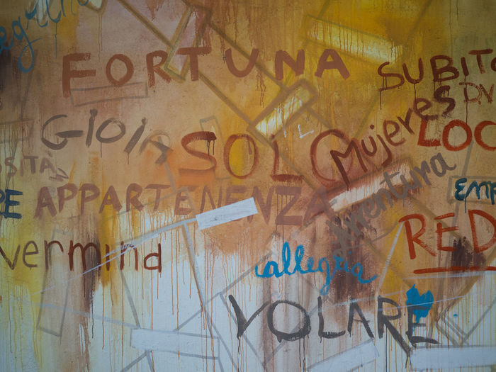 ArtWork Backgrounds Colored Walls Communication Fly Fortuna Full Frame Gioia Handwriting  Lucky Message Murales Script Spay Spray Paint Spray Text Text Text Art Volare Wall Wall Art Wall Paint Words Written Yellow