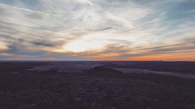 Sunset Beauty In Nature Scenics Dramatic Sky Outdoors No People Travel Destinations Nature Sky The Way Forward Desert Journey Adventure Beauty Backgrounds Petrified Forest National Park Arizona Desert Vibes Arid Climate Tranquil Scene Beauty In Nature Tranquility Landscape Sand Nature