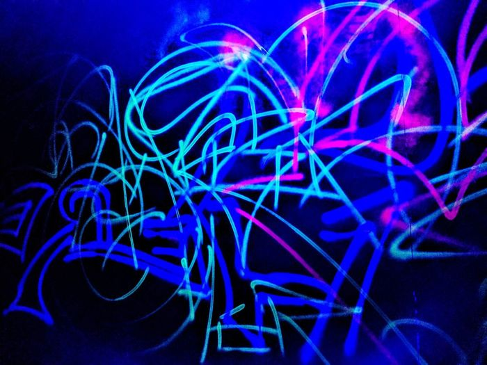 Glow in the dark. Abstract No People Multi Colored Black Background Visual Feast