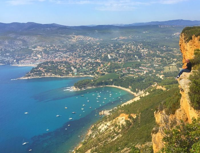 Landscape Mountain Nature Sea Cassis Beauty In Nature Adventure Scenics