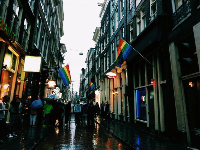 Amsterdam City City Life Evening Lifestyles Multi Colored Rain VSCO Vscocam Walking