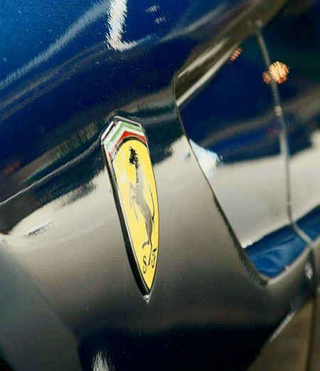 Transportation Close-up Car Mode Of Transport No People Motorsport Ferrari Ferrari Badge Prancing Horse