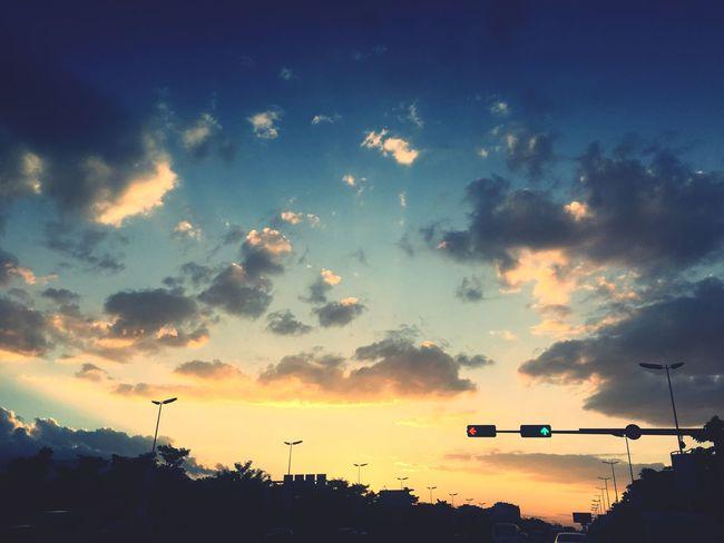 Sunset Sky Cloud - Sky Stoplight