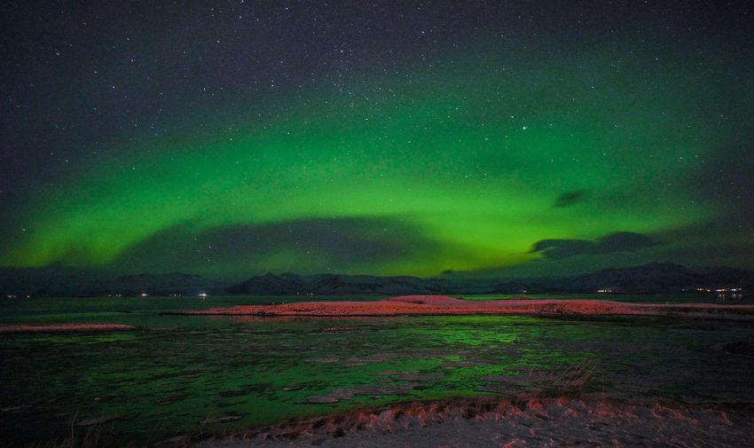 Iceland Astronomy Aurora Polaris Beauty In Nature Landscape Night No People Scenics - Nature Star - Space The Traveler - 2018 EyeEm Awards