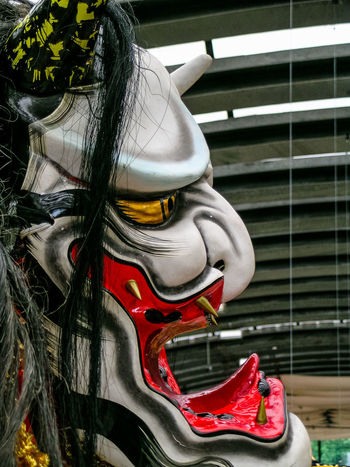 Japanese  Kagura Close-up Day Folklore Mask No People Outdoors Sampa Sculpture