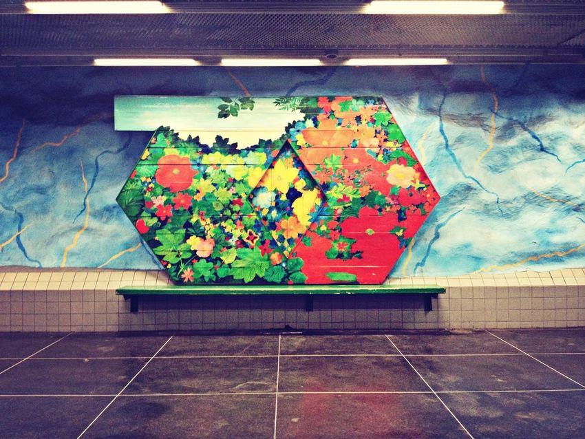 Flowers that won't see the sun. T-Bana Art Metro
