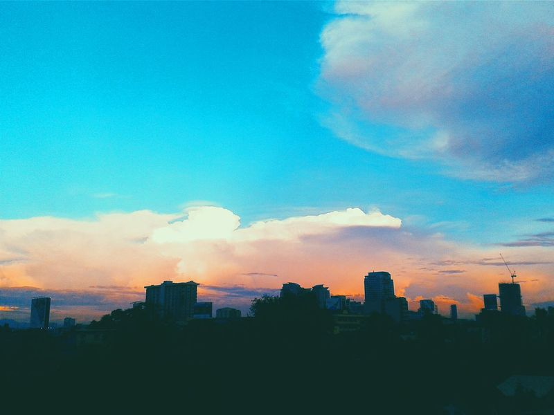 about to say goodnight to mr. sun ^^,) City Sunset Eyeem Philippines