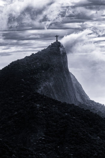 Cristo Redentor Rio De Janeiro Theo Leopardi Vista Chinesa Beauty In Nature Cloud - Sky Day Mountain Nature Outdoors Sky