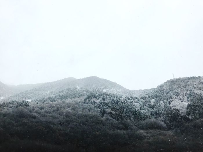 Mountain Nature Day Beauty In Nature No People Clear Sky Tranquility Outdoors Scenics Cold Temperature Mountain Range Landscape Winter Water Freshness Sky