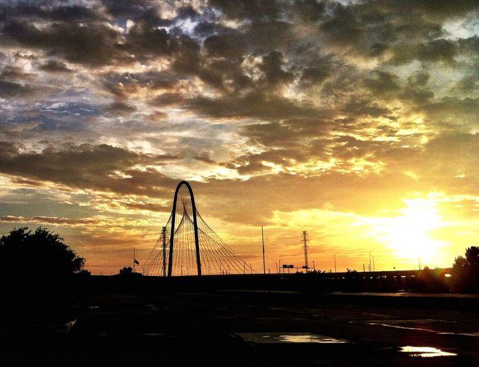 Sunset Bridge Silhouette 43 Golden Moments