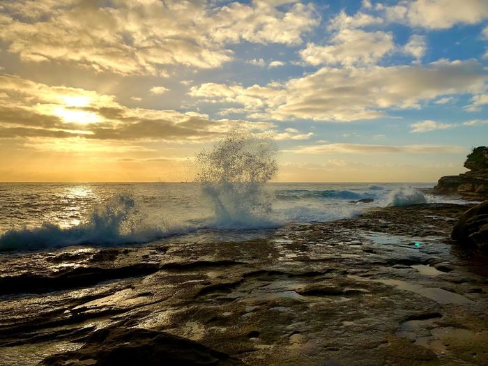IPhone X IPhoneography Sunset Sunrise Beauty In Nature Nature Water Sea Scenics Sky Motion Horizon Over Water Wave Force