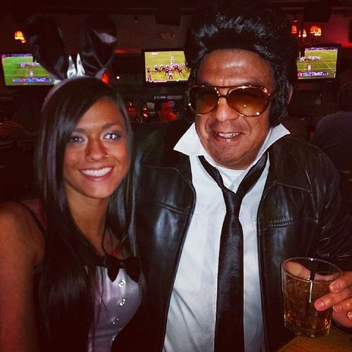 Elvis is in the building. At Twinpeaks Plano Halloween Dressup Funtimes