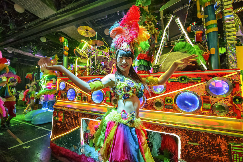 Adult Adults Only Arts Culture And Entertainment Celebration Colourful Dance Entertainer Entertainment Fun Indoors  Kabukicho Multi Colored Music Neon Lights Night People Travel Destinations