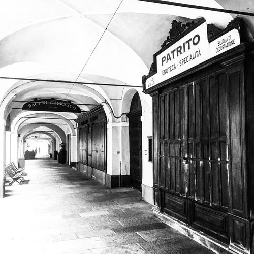 Empty entrance of building