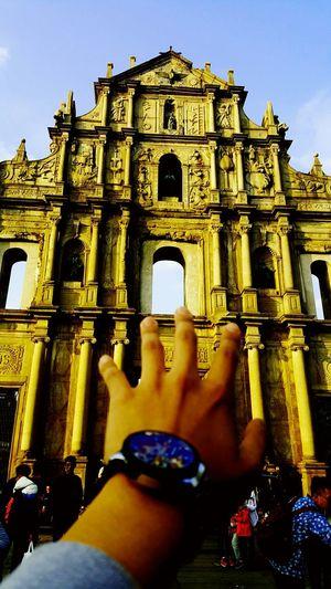 First Eyeem Photo Hand Wristwatch Church Sky Landscape Christian Macau Landmarks Mind  Trip Traver