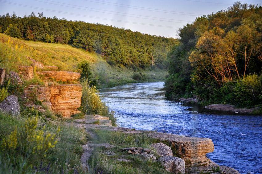 Lipetsk Region Kurapovo Rocks And Water Autumn