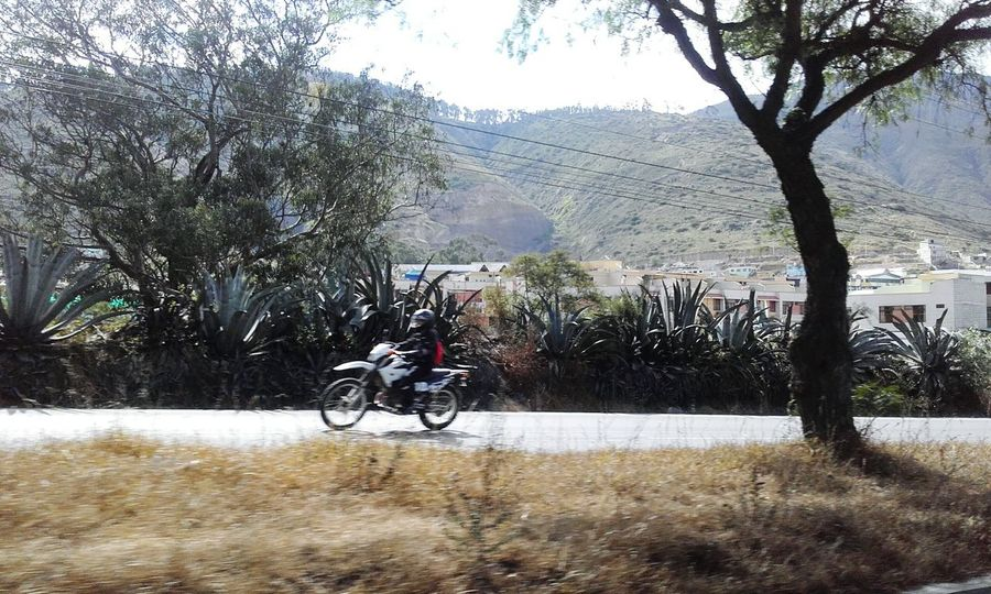 Moving Car Ride  Motorcycle Mountains Sky Rural Scene Highway